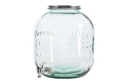 Getränkespender Wasserspender Limonadenspender 4er Gläser Set 4 l Saftspende