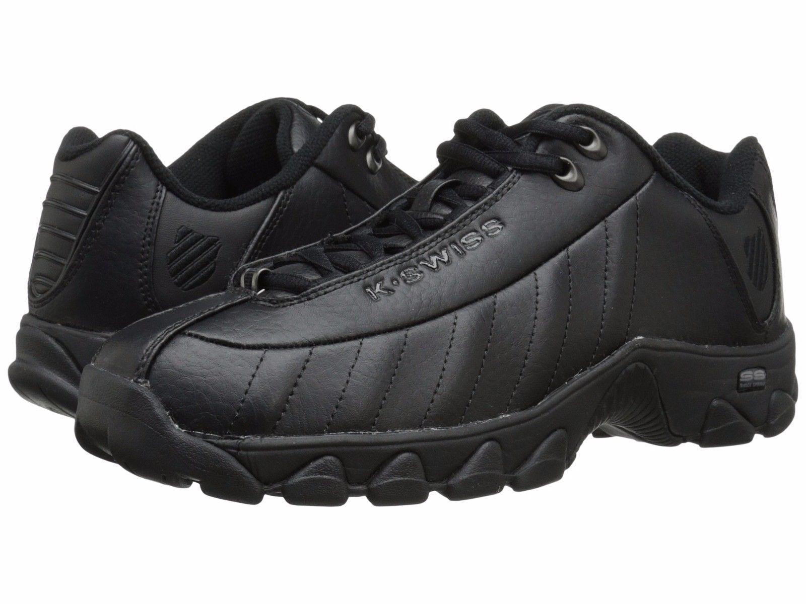 K Swiss Black Black Model ST329 Mens Fashion CMF Memory Foam Shoes Sizes 6