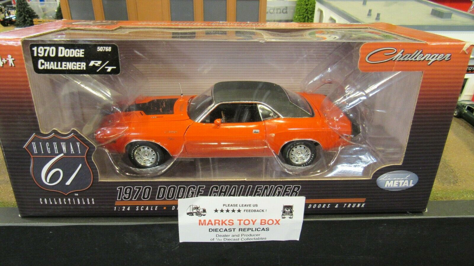 DCP HWY 61  50768  Orange 70 1970 DODGE CHALLENGER 426 HEMI RT R T 1 24 CL  nouveau style