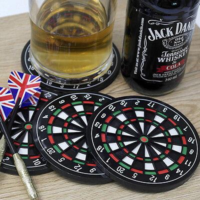 4PCS Set Kitchen Utensils Dart Board Rubber Coaster Mug Cup Holder Coasters Mat