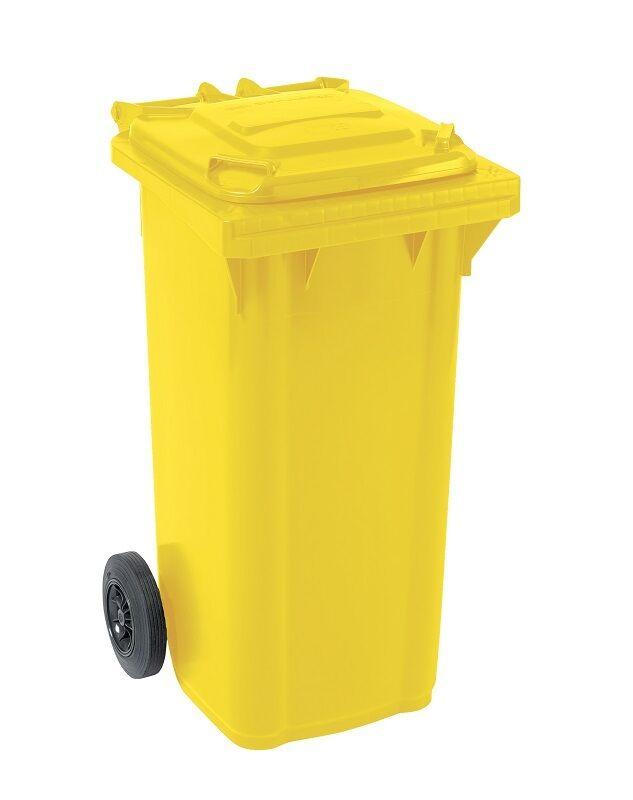 Großmülltonne Mülltonne Abfalltonne Abfallbehälter GMT 140 L L L gelb 5f29d8
