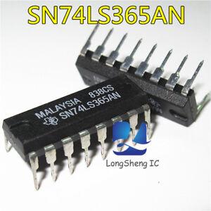 10PCS-SN74LS365AN-LOW-POWER-SCHOTTKY-DIP16-new