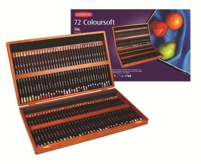 Derwent Coloursoft Pencil Box Set 72 Derwent Colour Soft Pencil Box Set