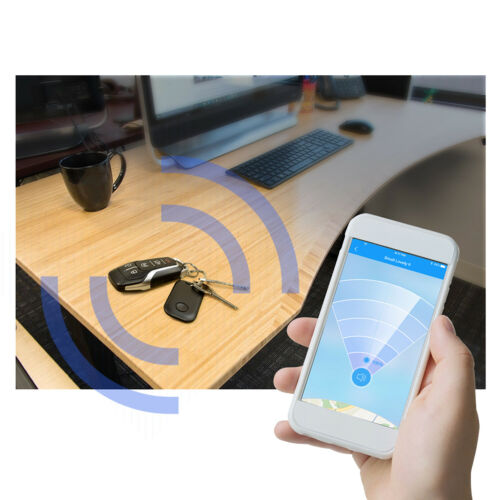 SRT-8 White Bluetooth Wireless Key Finder Tracking Device Key Chain Dodge Jeep