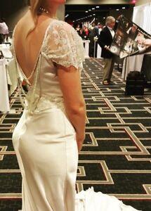Custom Made Woman\'s Wedding Dress Cream Color Vintage Look Wedding ...