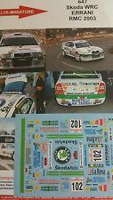 DÉCALS 1/18 réf 647 Skoda WRC Errani Monte Carlo 2003
