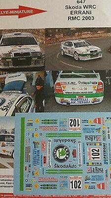 Calcomanías 1//18 Ref 524 Octavia WRC Didier Auriol Rallye Montar Carlo 2003