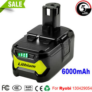 Details about 6 0Ah 18V P108 for RYOBI ONE PLUS P102 P104 P106 Lithium-ion  Compact Battery