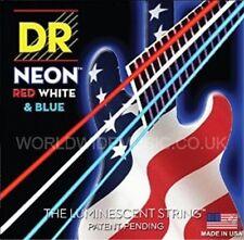 DR NEON NUSAB5-45 USA Red White & Blue 5 String Set Bass Guitar Strings 45-125