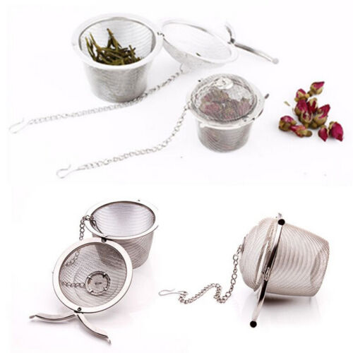Practical Tea Ball Spice Strainer Mesh Infuser Filter Stainless Steel Herbal 3AA