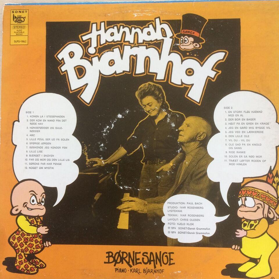 LP, Hannah Bjarnhof, Børnesange