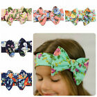 2016 Baby Girl Kids Big Bowknot Hairband Headband Turban Knot Head Wrap Headwear
