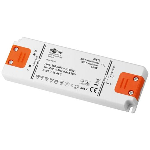LED Trafo 24V 20W elektronischer LED-Transformator Lampen SMD Driver DC G4 MR16
