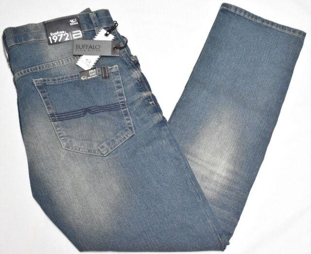 Buffalo David Bitton Jeans Men Ash-X Skinny Stretch Denim Aged /& Torn Wash P208