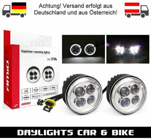 NSSC AMiO LED Tagfahrlicht Angel Eyes Lichtring Rund 70-90mm Nebelscheinwerfer