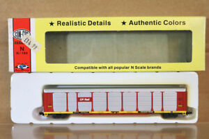 CON-COR-603029-6-ESCALA-N-Canadian-Pacific-CP-Tren-Auto-estante-largo-Wagon-nn