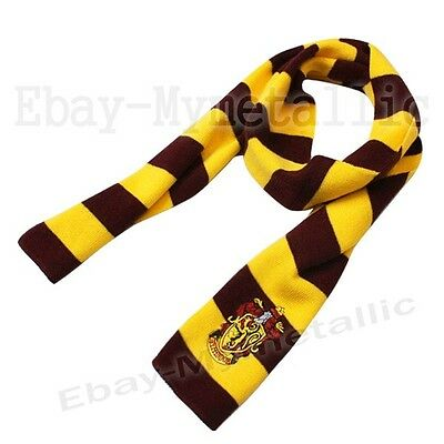 Harry Potter Gryffindor House LOGO Knit Wool Scarf Wrap Cosplay Costume