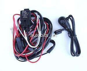 SPOT-FOG-LIGHTS-LAMPS-WIRING-KIT-SET-LOOM-SWITCH-12V-for-LAND-ROVER-DISCOVERY