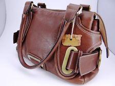 Abro Damentasche Handtasche Schultertasche Tasche Leder Braun