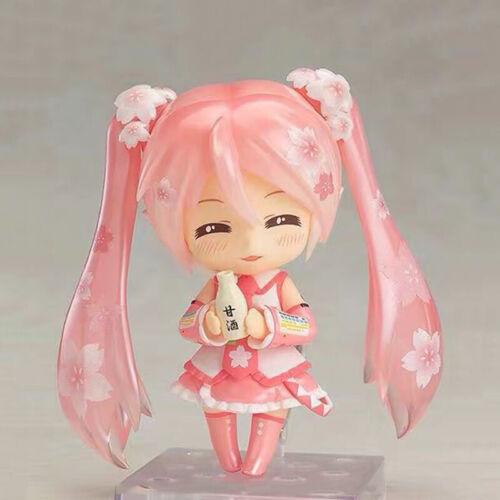 """Nendoroid 500# Vocaloid Hatsune Sakura Miku 4/"""" Anime Action Figure Set in Box"""
