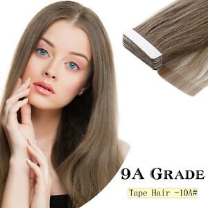 9A-Grade16-039-039-20g-40g-Tape-In-Remy-Human-Hair-Extensions-Straight-Seamless-Weave