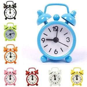 Image Is Loading Mini Travel Alarm Clock Round Number Desk Bed