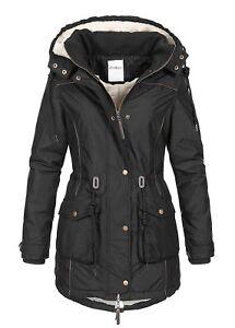 Details zu 46% OFF B18109053 Damen 77 Lifestyle Jacke Winter Kapuze Teddyfell innen schwarz