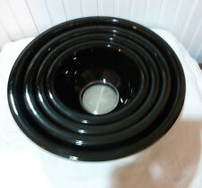 PYREX SET OF 4  BLACK MIXING BOWLS CLEAR BOTTOMS