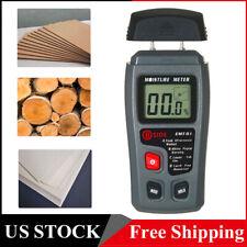 Damp Detector Moisture Meter Digital Lcd Tester Wood Wall Plaster With Pin Y2u5