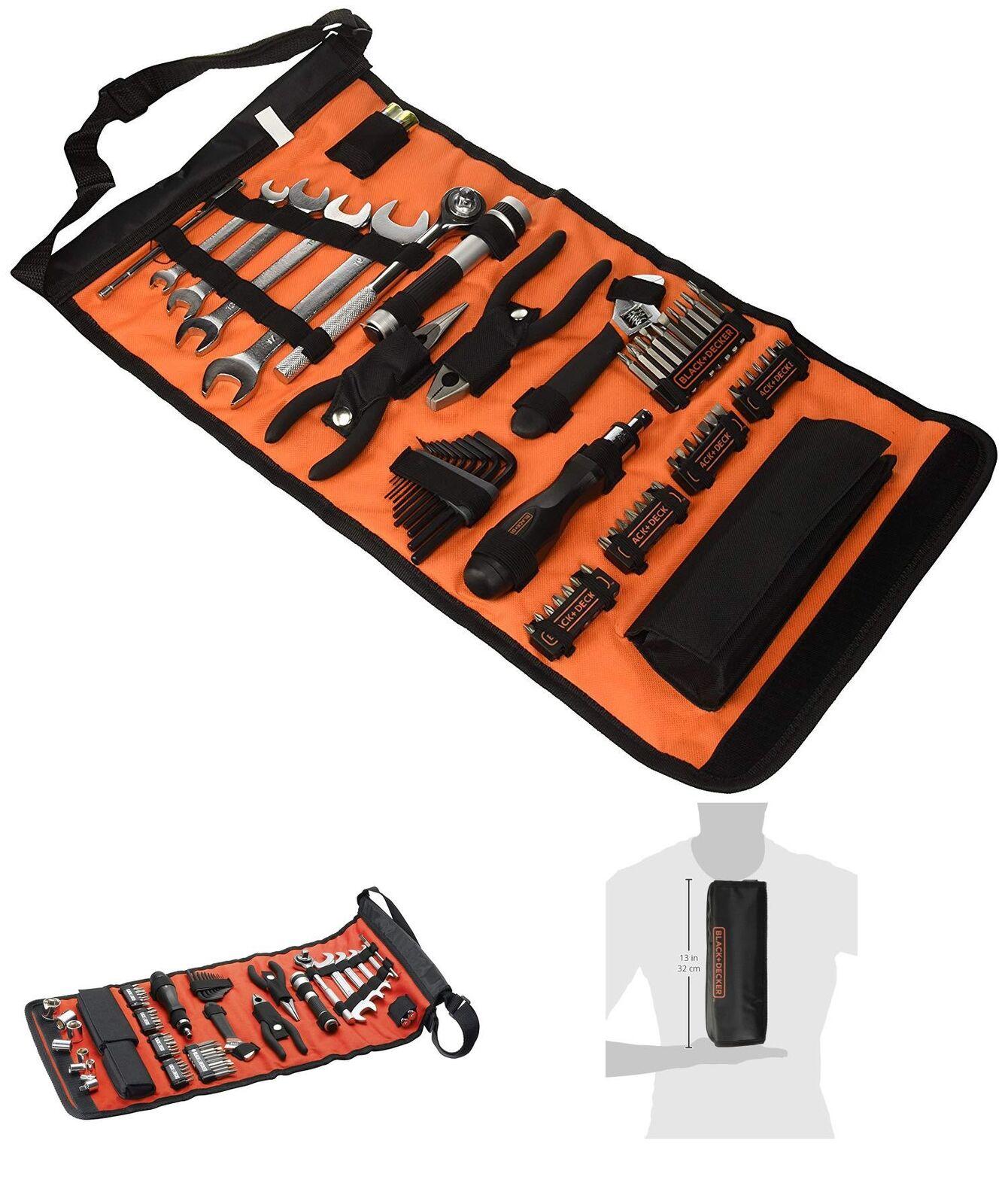 schwarz+Decker Rolltasche (Mit (Mit (Mit Autowerkzeugzubehör Taschenlampe Schrauberklinge 2e28ce