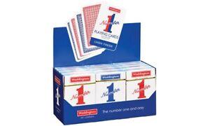 Bien 2x Waddington No.1 Cartes à Jouer Qualité Rouge & Bleu Classique Lin Finition Pack Uk-afficher Le Titre D'origine RafraîChissant Et BéNéFique Pour Les Yeux