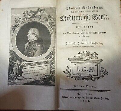 Rar! Thomas Sydenham Medizinische Werke 1.band 1786 Medizin Pocken Masern London Spezieller Kauf