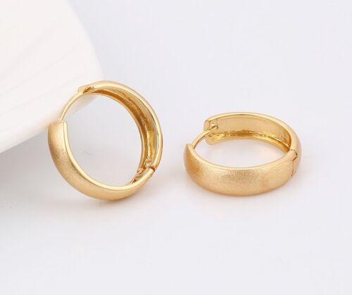 "594 9ct 9K Yellow  /""Gold Filled/""  Men Ladies  Small Dusty Hoop Earrings.20mm"