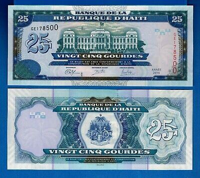 Haiti P-272 10 Gourdes Year 2014 Uncirculated Banknote