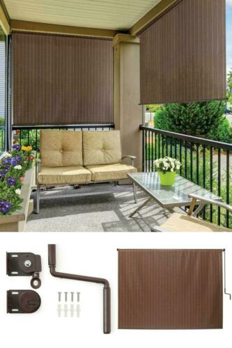 6 Ft Window Sun Shade Blind Roller Roll Up Exterior Cordless Patio Outdoor Porch