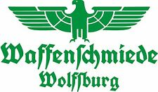 Waffenschmiede Wolfsburg Fahrzeug Aufkleber Grün Green WH Adler Vehicle Sticker