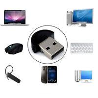 Mini Wireless USB Bluetooth 2.0 Adapter Dongle EDR Audio Stereo Receiver Black