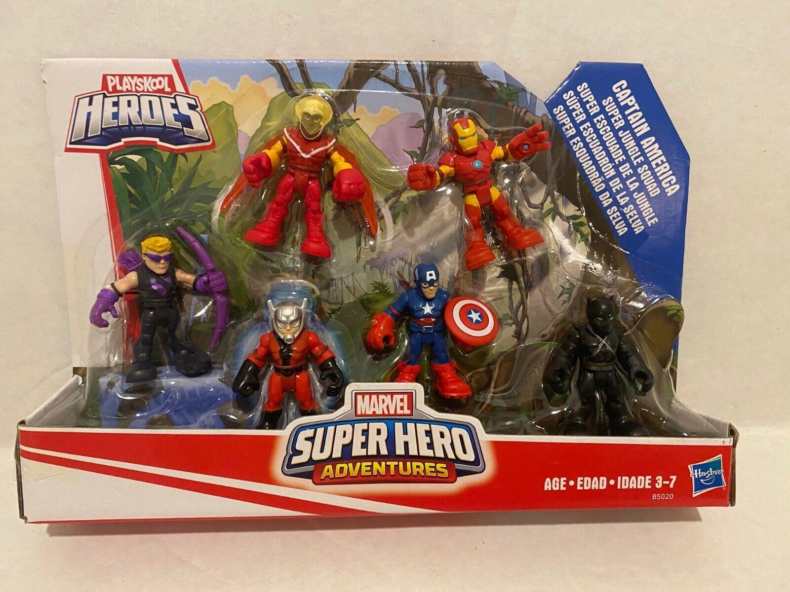 Playskool Heroes Super Hero Adventures Captain America Figure Pack Jungle Squad
