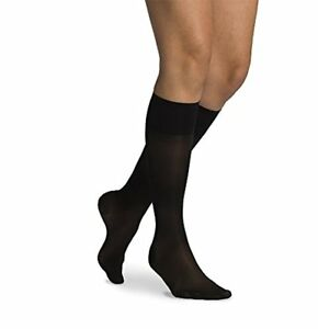 d367429fef Details about SIGVARIS Women's SHEER FASHION 120 Closed Toe Calf Compression  Hose 15-20mmHg