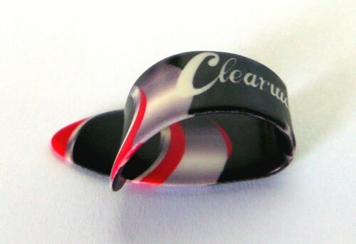 THUMB PICKS LARGE BY CLEARWATER BLACK AND RED SIZE MEDIUM SET OF 4