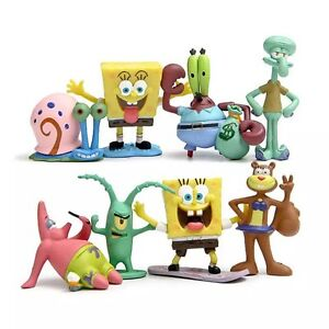 Spongebob-Patrick-Star-anime-figure-figures-Set-of-8pcs-doll-anime-collect
