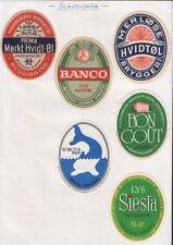 old beer bottle labels scandinavia collection #102