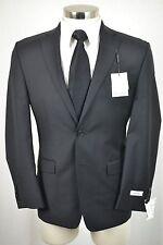 (38S) NEW Calvin Klein Men's Black Wool SLIM FIT Sport Coat Blazer Jacket