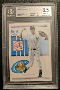 1993-SCORE-489-DEREK-JETER-ROOKIE-CARD-RC-NEW-YORK-YANKEES-HOF-BGS-8-5-NM-MT