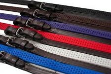 NEW Soft Grip Rubber Reins Pony Length (48') - Royal Blue