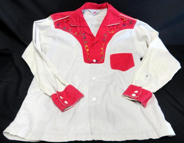 Child's Vintage Western Rockabilly Cowboy Shirt size 8-12