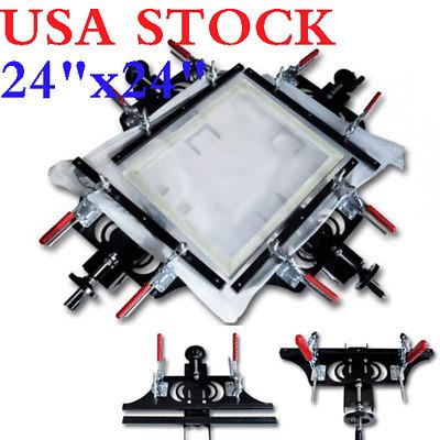 "24/""x24/"" Screen Printing Hand Stretcher Fabric Mesh Stretching Tools US Stock!"