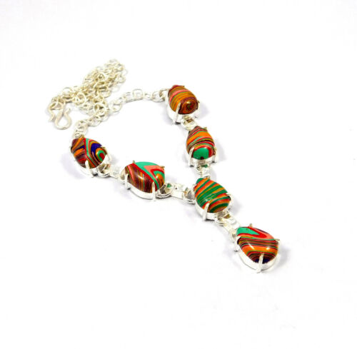 Multi Stone .925 Silver Plated Free Shipping Necklaces Jewelry MKD51-MKD105
