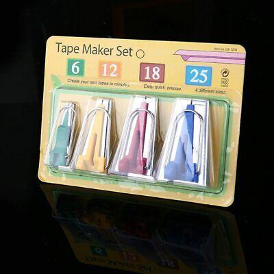 Agujas para Cuentas Pince-Notes Ajustable Kit de Cinta al Bies,Cintas al Bies Tape Maker Set con Punz/ón de coser Presse pour les Pieds