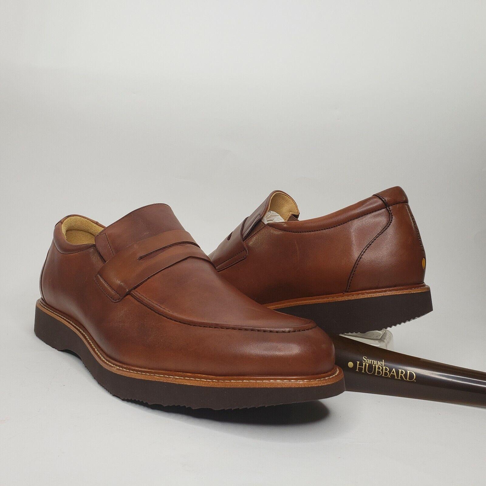 Samuel Hubbard Ivy Legend Whiskey Leather Slip-on Dress Shoes Size 13M M2180-065